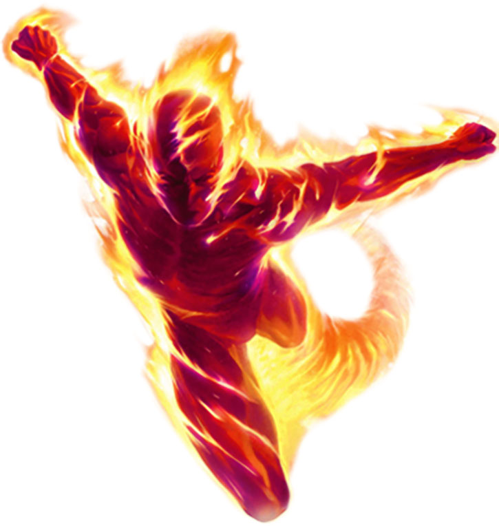 The Human Torch (Johnny Storm) painted art