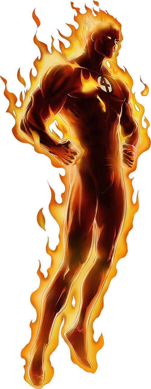 Human Torch of the Fantastic 4 (Marvel Comics) Avengers Alliance art