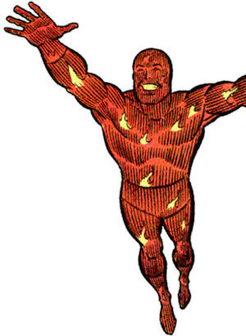 Human Torch of the Fantastic 4 (Marvel Comics) during the 1970s