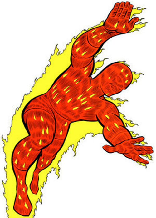Human Torch of the Fantastic 4 (Marvel Comics) during the 1960s
