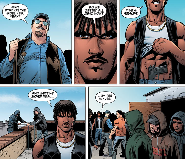 Hunter (Dark Horse Comics) as a youth, and an early Wolf Gang