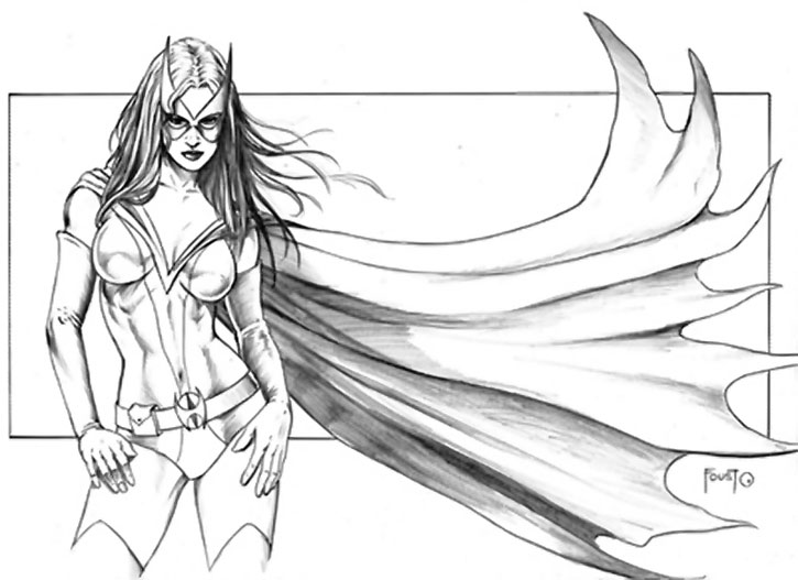 Huntress (Helena Bertinelli) sketch by Mitch Foust