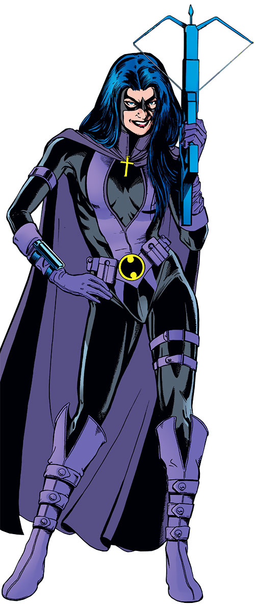 Huntress (Helena Bertinelli) (DC Comics) with her crossbow at the ready