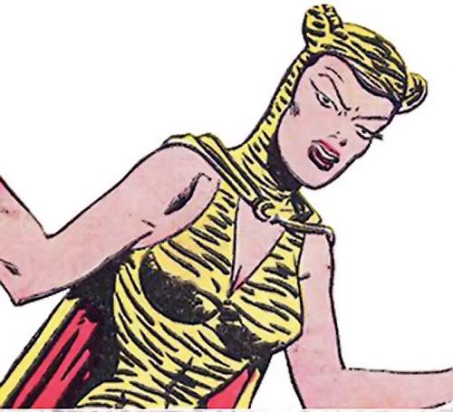 Huntress (Wildcat enemy) (DC Comics Golden Age) arguing