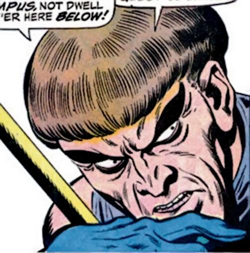 Huntsman of Zeus (Hercules and Namor enemy) (Marvel Comics) face closeup