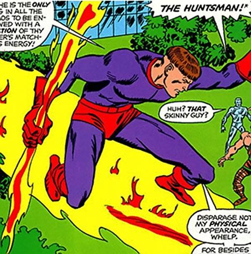 Huntsman of Zeus (Hercules and Namor enemy) (Marvel Comics) riding lightning