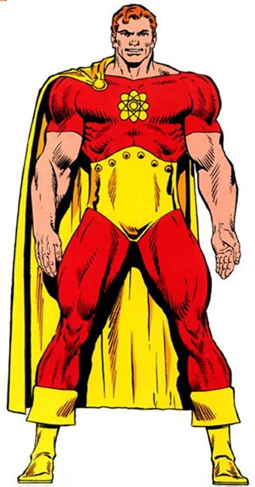 Hyperion of the Squadron Supreme (Marvel Comics) from the Master Edition handbook