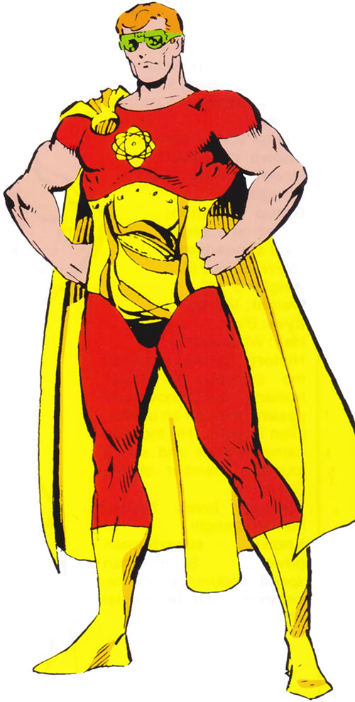 Hyperion of the Squadron Supreme (Marvel Comics) 1985 handbook with goggles