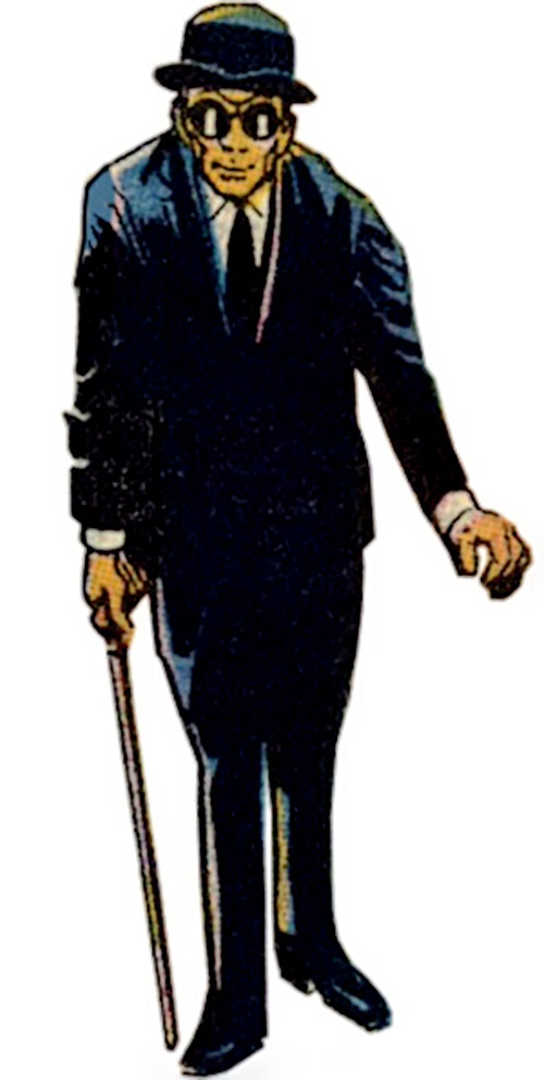 I-Ching (Wonder Woman ally) (DC Comics) in his black suit