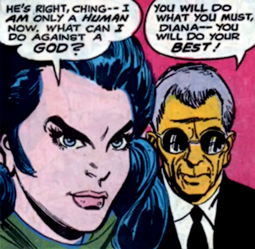 I-Ching and Diana Prince (Wonder Woman) (DC Comics) discussing