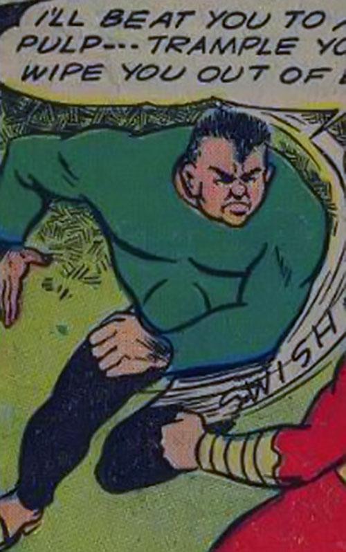 Ibac vs. Captain Marvel (Fawcett comics)