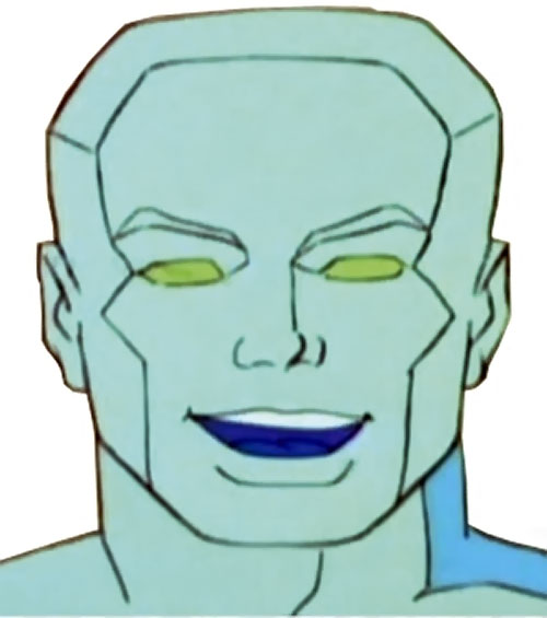 Iceman (Spider-Man Amazing Friends cartoon) face green eyes