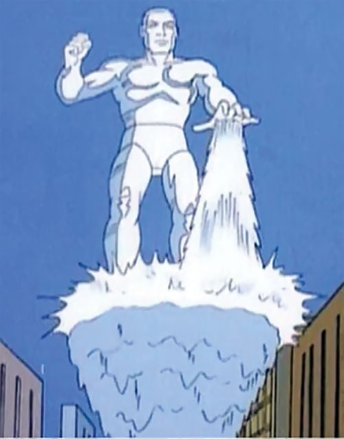 Iceman (Spider-Man Amazing Friends cartoon) on an ice slide