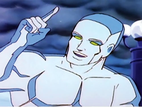 Iceman (Spider-Man Amazing Friends cartoon) smiling