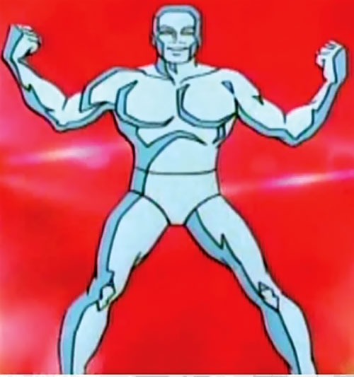 Iceman (Spider-Man Amazing Friends cartoon) red background