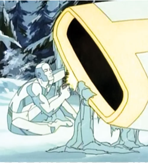 Iceman (Spider-Man Amazing Friends cartoon) repairing a vehicle