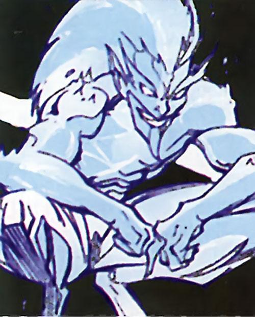Icemaster (Hostess Comics) crouching