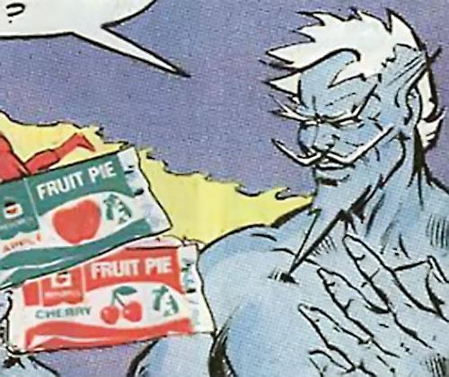 Icemaster (Hostess Comics) with fruit pies