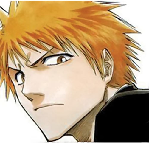 Ichigo Kurosaki from the Bleach manga face closeup