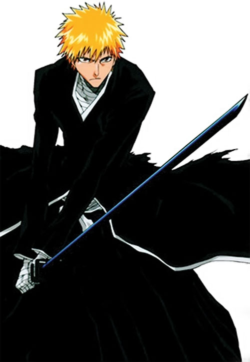 Ichigo Kurosaki from the Bleach manga - bankai