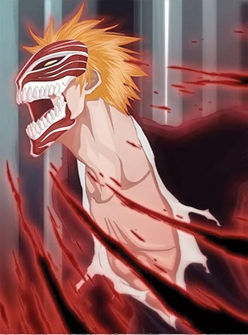Ichigo Kurosaki from the Bleach manga as a red Hollow