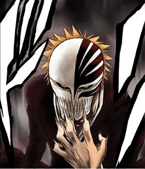 Ichigo Kurosaki from the Bleach manga as a clawed Hollow