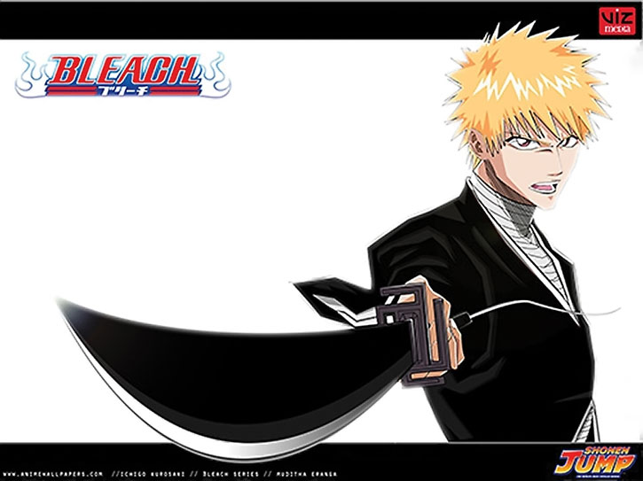 Ichigo points his sword