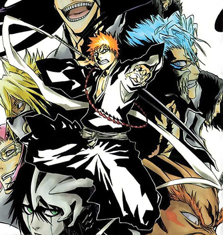 Bleach cast montage with Ichigo jumping