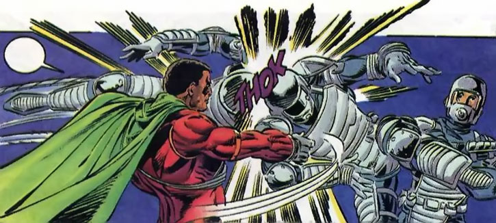 Icon (Augustus Freeman) fights men in armor