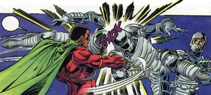 Icon (Augustus Freeman) fights men in armor
