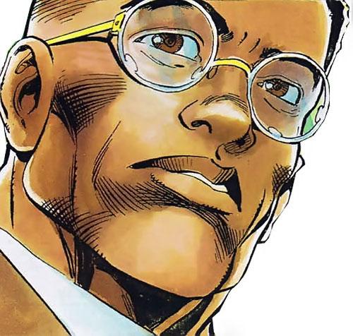 Icon (Milestone comics) out of costume face closeup