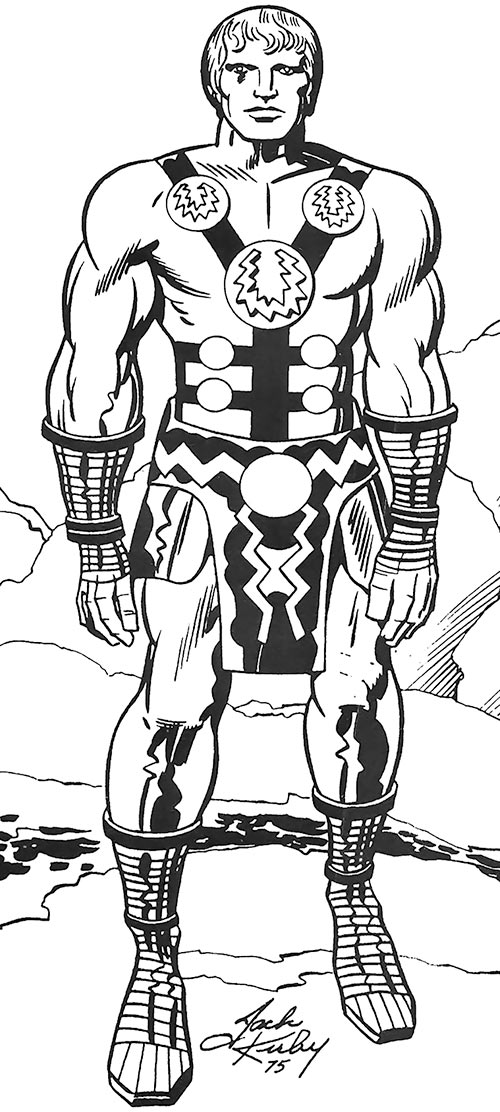 Ikaris of the Eternals - Marvel Comics - Jack Kirby sketch in FOOM