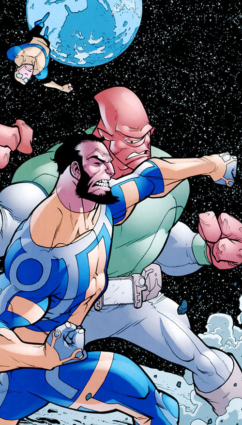 Immortal of the Guardians of the Globe (Invincible comics) vs. Allen the Alien