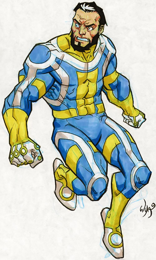 Immortal of the Guardians of the Globe (Invincible comics) colored drawing