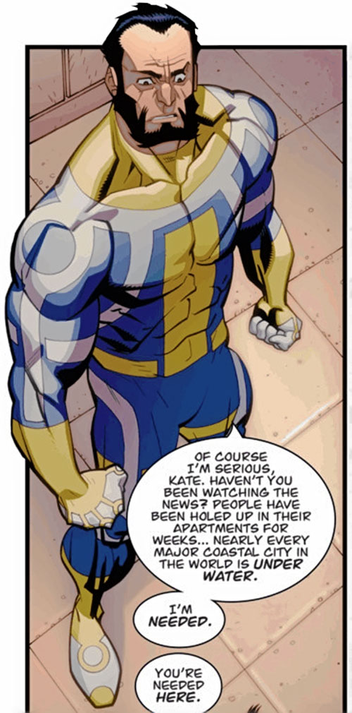 Immortal of the Guardians of the Globe (Invincible comics) arguing
