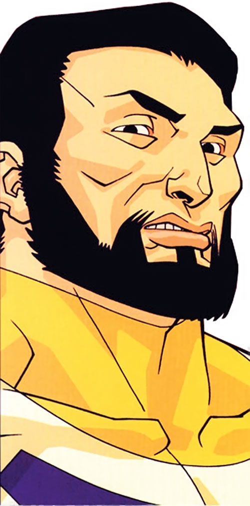 Immortal of the Guardians of the Globe (Invincible comics) face closeup