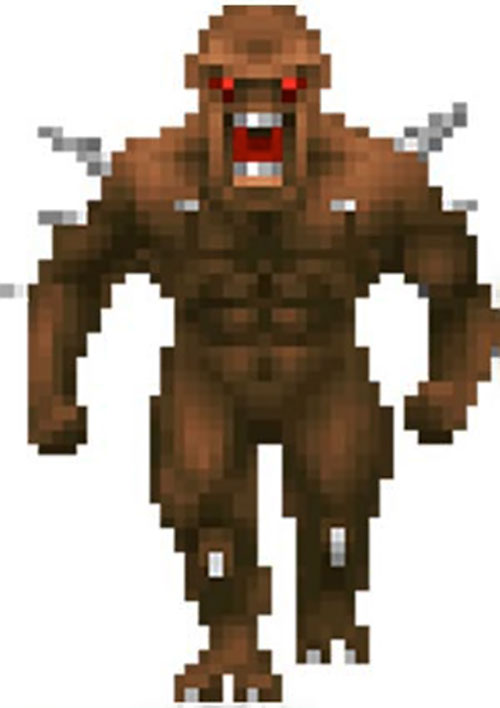 Doom imp video game sprite