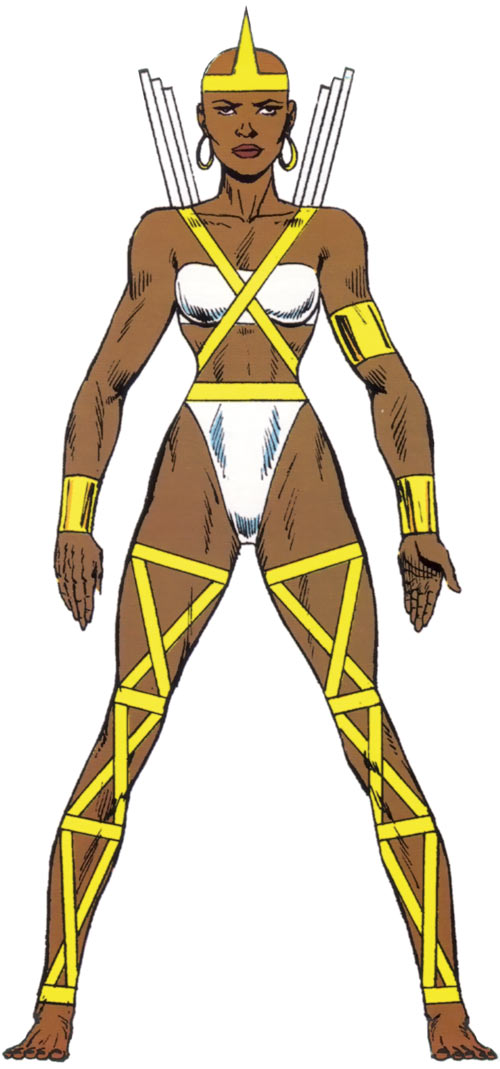 Impala of the BAD Girls (Marvel Comics Captain America character) from the handbook master edition