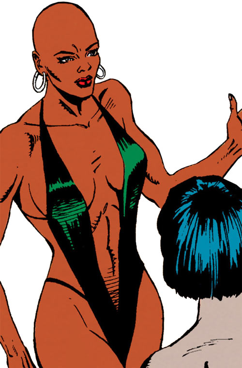 Impala of the BAD Girls (Marvel Comics Captain America character) in a swimsuit