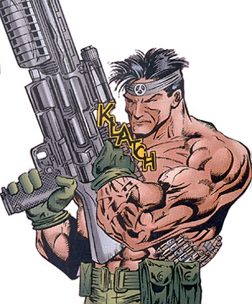 Incoming (Ultraverse comics) (Solution enemy) readying his gun