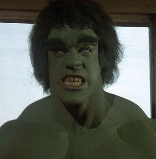 Hulk (Lou Ferrigno / Bill Bixby TV show) face closeup