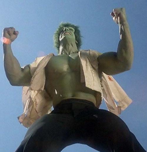 Hulk (Lou Ferrigno / Bill Bixby TV show) raging in a torn shirt