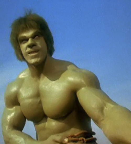 Hulk (Lou Ferrigno / Bill Bixby TV show) - Hulk being muscular