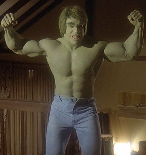 Hulk (Lou Ferrigno / Bill Bixby TV show) - Hulk flexing
