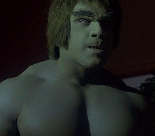 Hulk (Lou Ferrigno / Bill Bixby TV show) - Hulk scowling