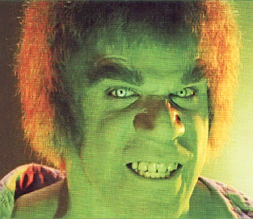 Lou Ferrigno as the Hulk, face shot
