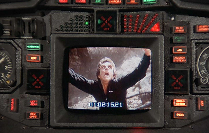 Bruce Banner (Bill Bixby) about to transform, as seen on a surveillance monitor