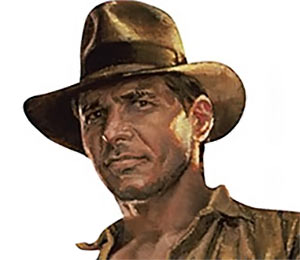Indiana Jones Harrison Ford portrait