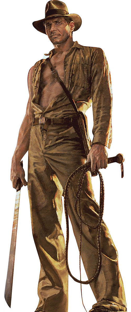 Drawing of Harrison Ford as Indiana Jones