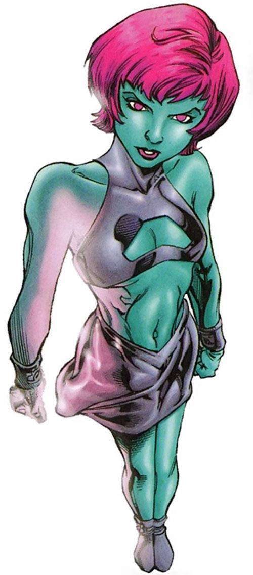 Indigo of the Outsiders (DC Comics) high angle shot